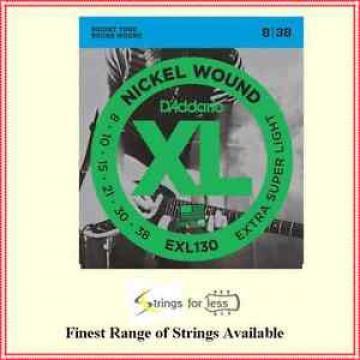 D'Addario EXL130 1 Set Nickel wound  Electric Guitar Strings  .008 - .038 XL 130