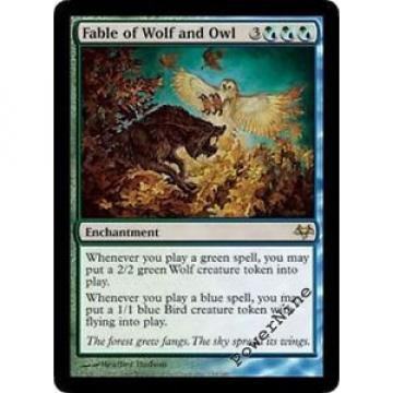 1 PLAYED Fable of Wolf and Owl - Eventide Mtg Magic Hybrid Rare 1x x1