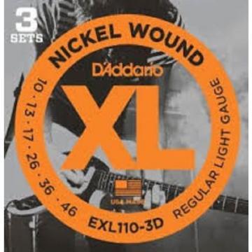 D'addario EXL120-3D EXL125-3D EXL110-3D EXL140-3D & EXL115-3D. 3 Sets of Strings