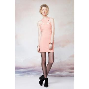Finders Keepers Planet Waves Body Dress in Papaya- Size L- BNWT RRP $130
