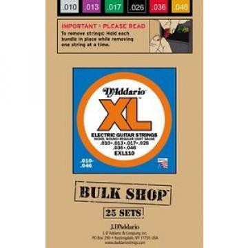 D'Addario EXL110-B25 Nickel Wound-Bulk Pack/25 String Sets 010-.046