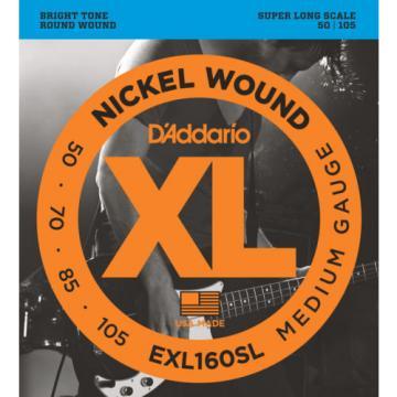 D'Addario EXL160SL Nickel Wound Bass Guitar Strings, Medium, 50-105, Super Long
