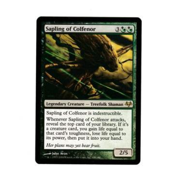 1x Sapling of Colfenor EX Eventide Commander Mtg Magic EDH 1x x1