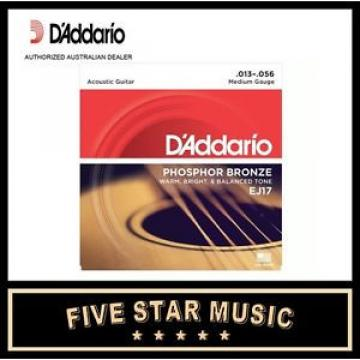 10 SETS D'DADDARIO EJ17 ACOUSTIC PHOS BRONZE GUITAR STRINGS 13-56 NEW DADDARIO