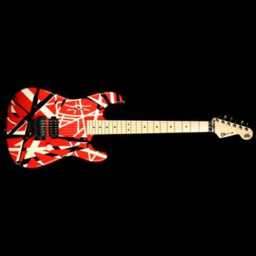 Used 2006 Charvel EVH Art Series Electric Guitar Red Black and White