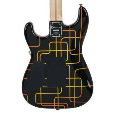 Charvel USA Custom San Dimas Schematic Graphic Unique Design Electric Guitar