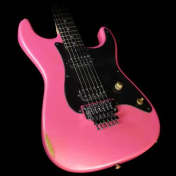Charvel Custom Shop Nitro San Dimas Electric Guitar Pink with Platinum Overspray
