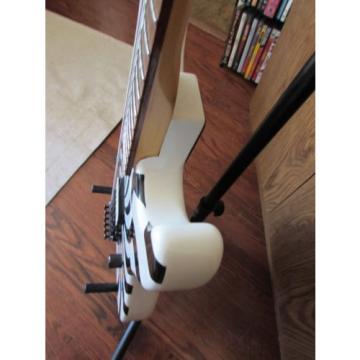 Charvel/Jackson Black on White Buzzsaw guitar with hard shell case