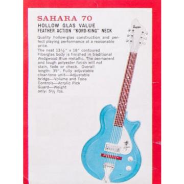 Supro Sahara Electric Guitar ~ Wedgewood Blue