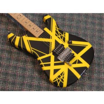 Charvel USA EVH Art Series Guitar! RARE Black & Yellow! Eddie Van Halen! w/OHSC
