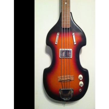 Airline vintage electric bass guitar Valco Supro Harmony Kay with case 60's USA