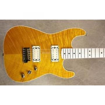 Charvel USA Custom Shop San Dimas Slab Flat Top Trans Amber Guitar
