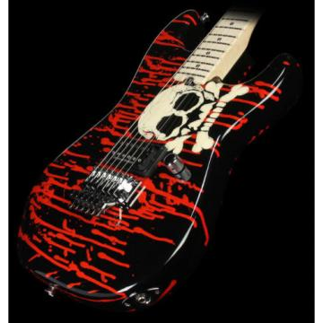 Used Charvel Pro Mod San Dimas Warren DeMartini Electric Guitar Blood & Skulls