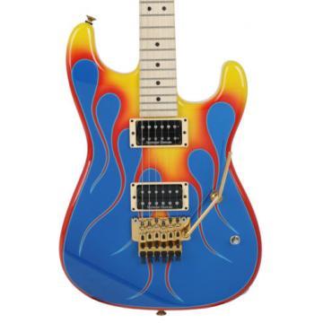 Charvel USA Custom San Dimas Vintage Flames Graphic Unique Design Flame Guitar