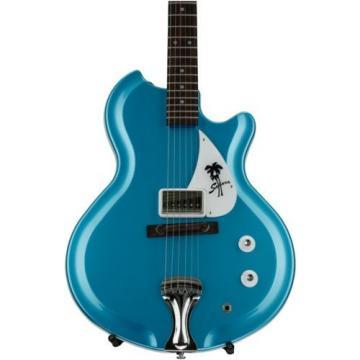 Supro Sahara 1570WB Electric Guitar  Vistatone Pickup  Blue