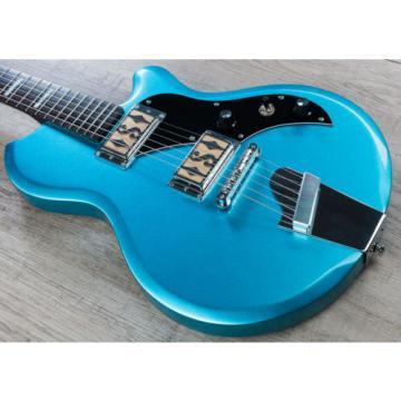 Supro Island Series Westbury Guitar, Ocean Blue Metallic, Rosewood Board
