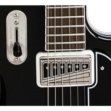 Supro Coronado II 1582JB Electric Guitar 2 Vistatone Pickup Black
