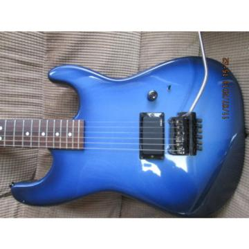 VINTAGE 1980's CHARVEL JACKSON BLUE BURST PAINT, WITH EMG 81 AND KAHLER TREMOLO