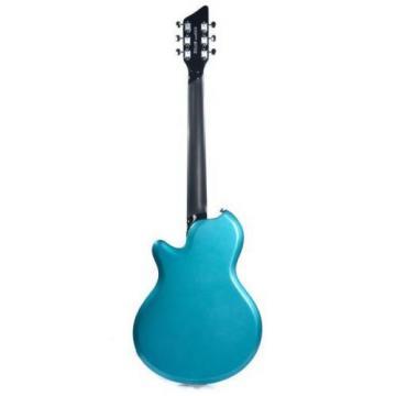 Supro Westbury 2020TM Electric Guitar Turquoise Metallic solid Dbl PU
