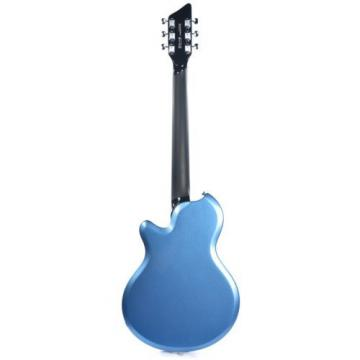 Supro Westbury 2020BM Electric Guitar Ocean Blue Metallic solid Dbl PU