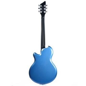 Supro Hampton 2030BM Electric Guitar Ocean Blue Metallic solid triple PU