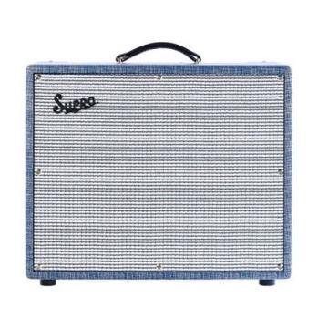 Supro S6420 Thunderbolt 35W 1x15 Tube Guitar Combo Amp Blue Rhino Hide #32784