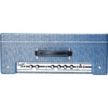 Supro 1624T Dual-Tone 2CH 24W 1x12 Tube Guitar Combo Amp Blue Rhino Hide #32783