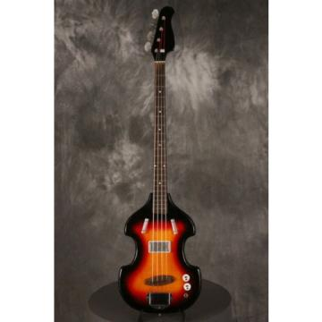 RARE 1965 SUPRO Violin shaped solid body BASS Sunburst LONG SCALE!!!