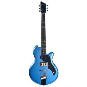 Supro Jamesport Ocean Blue Metallic 2010BM Electric Guitar solid single PU