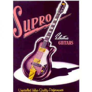 1950s SUPRO GUITAR CATALOG AD  REPRODUCTION