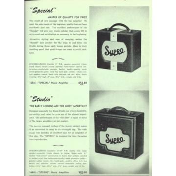 1957 Supro Amp catalog page ad