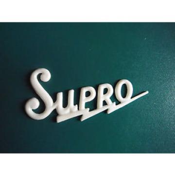 Supro Amp Logo White aged