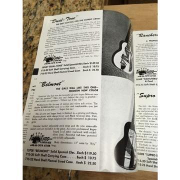 Supro Guitar Catalog 1956 Reprint Guitars and Amps