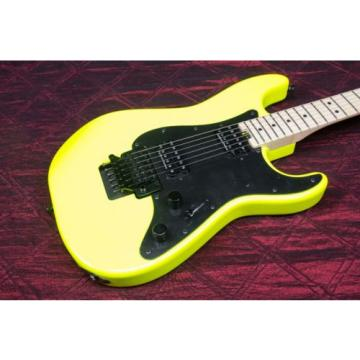 Charvel Pro Mod So Cal Style 1 2H FR Electric Guitar Neon Yellow 031408