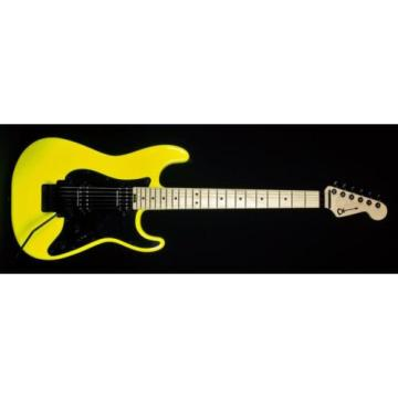 New! Charvel PM SC1 Pro Mod So Cal HH Guitar w/ Floyd Rose - Neon Yellow