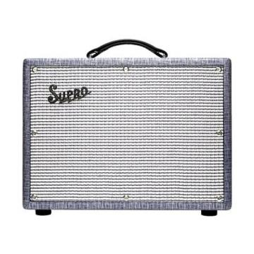 Supro 1622RT Tremo-Verb 25W 1x10 Tube Guitar Combo Amp Blue Rhino Hide #33358