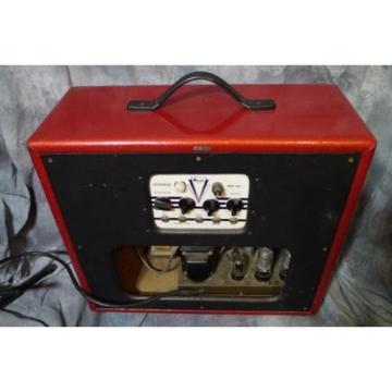 Supro Valco Brentwood 1650 t Vintage Tube Amp Custom Red Cover Original Speakers