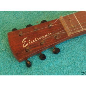 1940's Electromuse  Lap steel guitar 6 string w/case Rare Bird GC All original