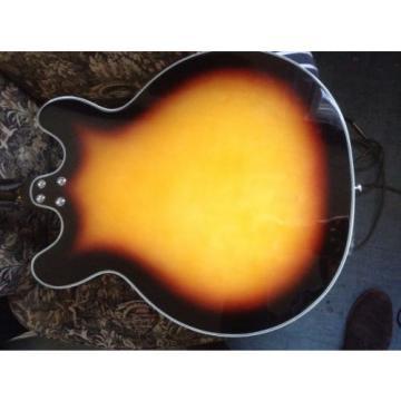 Custom Kraft Deluxe Sunburst hollow body black keys Valco Eastwood