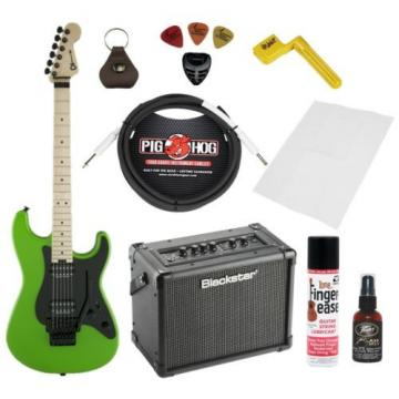 Charvel Pro Model SC1 2H FM Slime Green Bundle