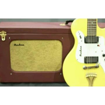 Vintage 1964 Airline 7214 Amp In Case Dual Pickup yellow W/ OHSC NICE!!!
