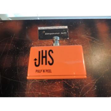JHS PULP N PEEL COMPRESSOR EFFECTS PEDAL ORANGE SQUEEZER CLONE 3-KNOB