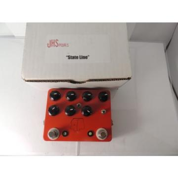JHS STATE LINE DUAL OVERDRIVE EFFECTS PEDAL w/ORIGINAL BOX & DOCS RARE! SN #80