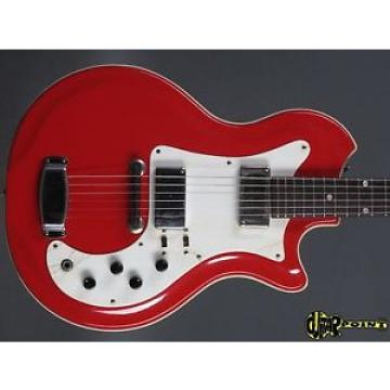 1966 Airline Res-o-Glas   - Red -  Shortscale Exotic a la Jack White/Great Sound
