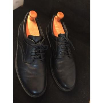 Dear Stags Times SUPRO Sock Men's 9.5 M Black Leather Oxford