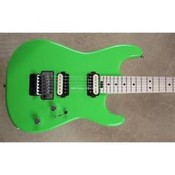 Charvel Pro Mod San Dimas Style Slime Green Guitar with FU Tone Big Brass Block