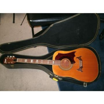 1960's Supro W-8 acoustic guitar made by Kay Valco with softshell case