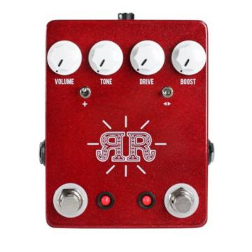 New JHS Ruby Red Butch Walker Signature 2-in-1 Overdrive/Fuzz/Boost Guitar Pedal