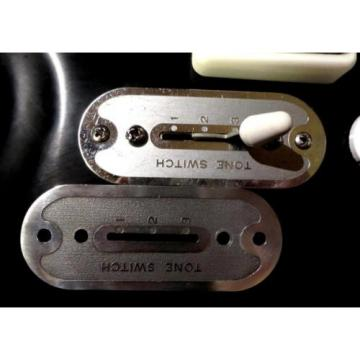 SUPRO/ AIRLINE / NATIONAL GUITAR TONE SWITCH COVER PLATE REPRO - SILVER