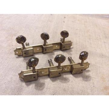 Vintage 1950's Kluson Deluxe Gold Guitar Tuners-Tuning Keys w/Sparkle Buttons